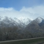 2013.22.3 - the other side of the highway, Sun shining on this side, and snow being dumped on the other :)