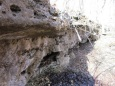 I love this, we have a huge wall of rock outcroppings that are dripping, making beautiful waterfalls... JUST WOW!