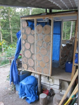 2013-08-27 Progress on the Composting Toilet Bathroom