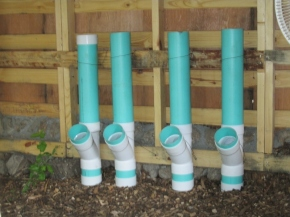 Feeders made of sewer pipe and fittings
