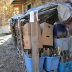 Here is a shot of all the kindling we scored from a friends burn pile.
