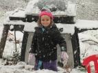 Rynae playin in the snow.