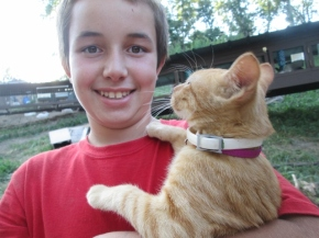 Paul and our kitty, Azreal
