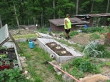 After we planted a couple hierloom maters (solar flair & pink berkely tie-dye maters to be exact)